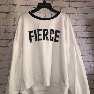 "White ""fierce"" tee"